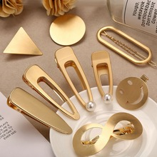 OLOEY New Women Hair Jewelry Charms Hairgrips Creative Alloy Geometric Girls Hairpins Casual Female Clip Accessories Gifts