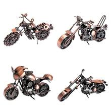 Figurita de motocicleta Retro VILEAD, modelo de Motor Vintage de hierro, decoración para el hogar, Año Nuevo, recuerdos de belleza, miniaturas para regalo de Navidad