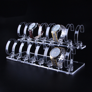 Image 2 - 1 סט חם אופנה ברור 2 tier להסרה שעון יד צמיד 16 תצוגת Rack Stand מחזיק תכשיטי תצוגה