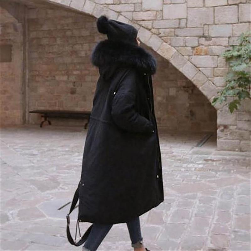 2 Ms Invierno Collar Alta Gran 1 Larga Piel Chaqueta Algodón Parka Abrigos Mujer De Gruesa A0896 Las Mujeres Abrigo Calidad 2018 3 wFfwqHrTn