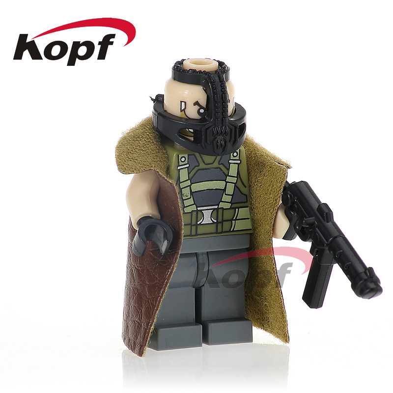 Single Sale PG378 Bane Super Heroes Figures Blink Spawn Joker Rorschach Captain America Building Blocks For Children Gift Toys