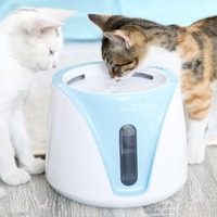 2L Automatic Cat Water Feeder Pets Dogs Feeding Water Bottle One touch Waterproof Button Outdoor Kitten Pets Automatic Drinker