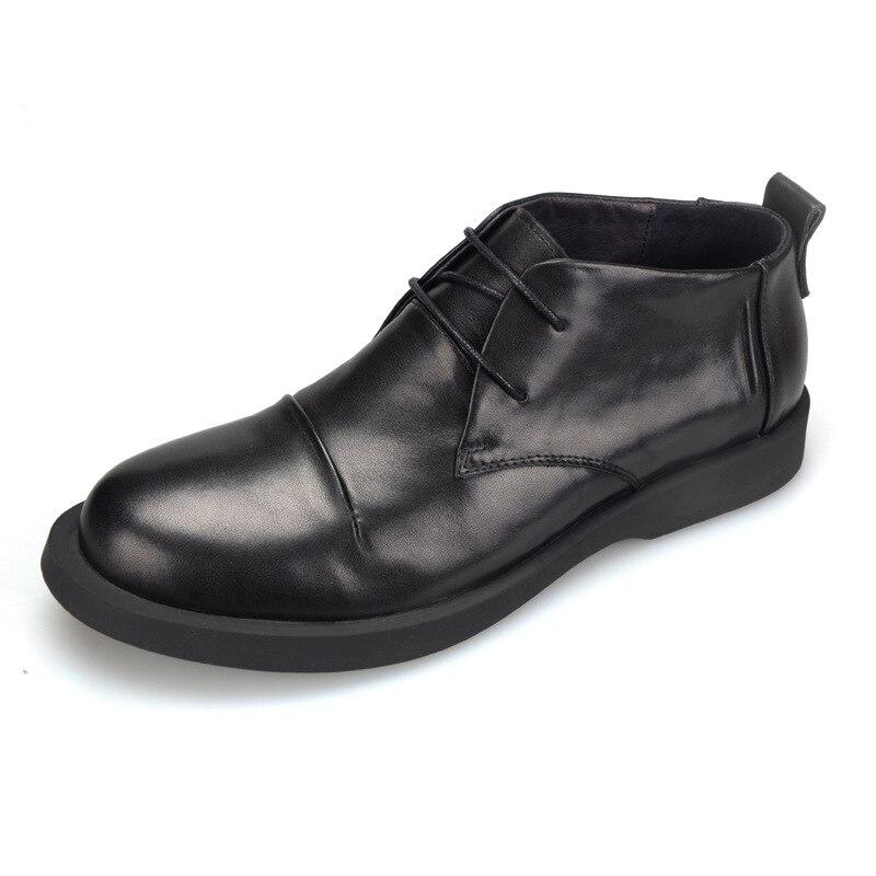 Alta Oxfords Genuína Primavera Vestem Verão Preto Dos Qualidade Outono Sapatos Homens Lazer Sapatos E Flats Nova Se De Moda Couro Homens fTCwqOCHx