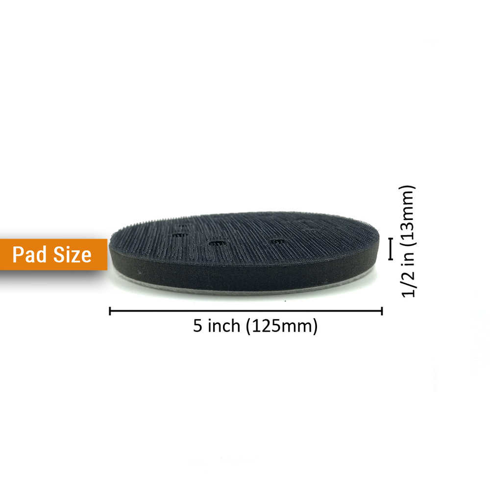 2PCS 5 Inch 125mm 8 Hole Soft Sponge Interface Pad for Sanding Pads and Hook Loop Sanding Discs for Uneven Surface Polishing in Abrasive Tools from Tools