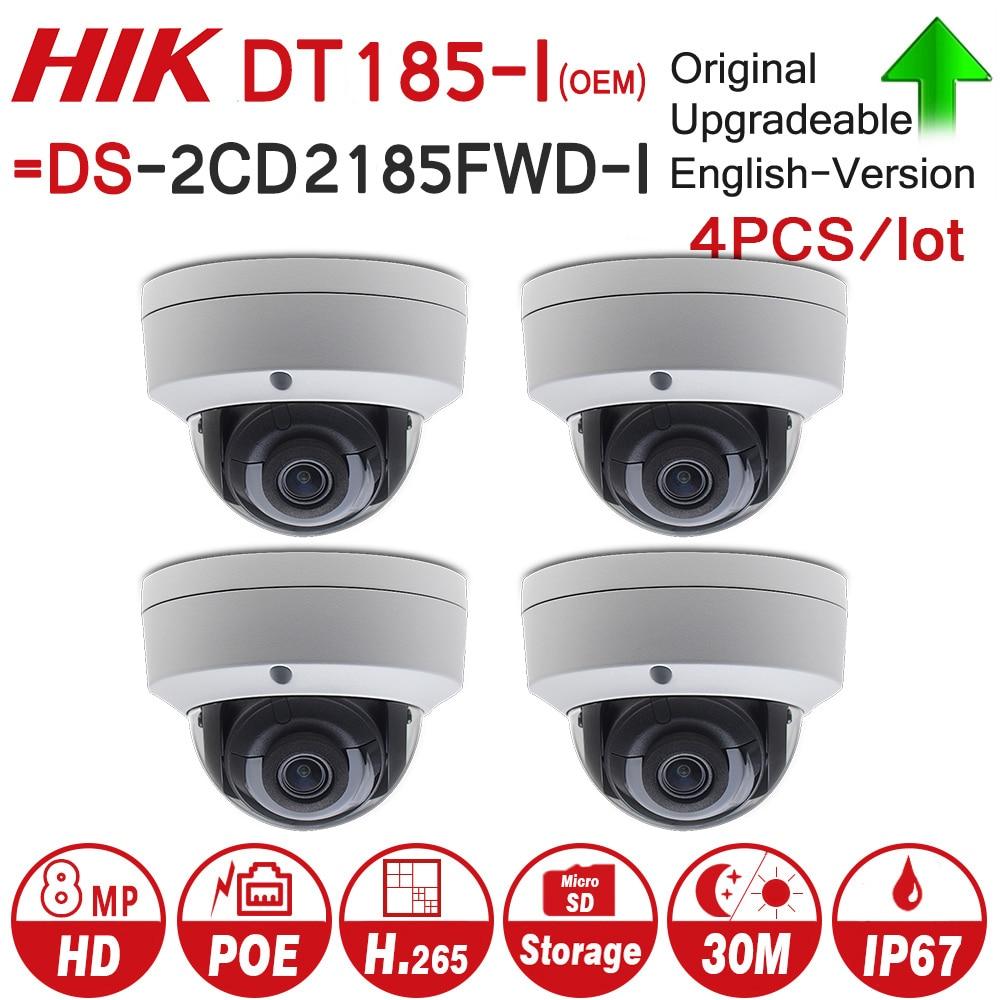 Hikvision OEM IP Caméra DT185-I = DS-2CD2185FWD-I 8MP Réseau Dôme POE IP Caméra H.265 CCTV Caméra SD Fente Pour Carte 4 pcs/lot
