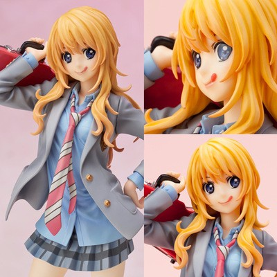 Toys & Hobbies Brave New Hot 20cm Your Lie In April Miyazono Kaori Violin Action Figure Toys Collection Doll Christmas Gift