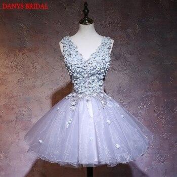 Short Lace Homecoming Dresses 8th Grade Prom Dresses Junior High Cute Graduation Formal Dresses mezuniyet elbiseleri