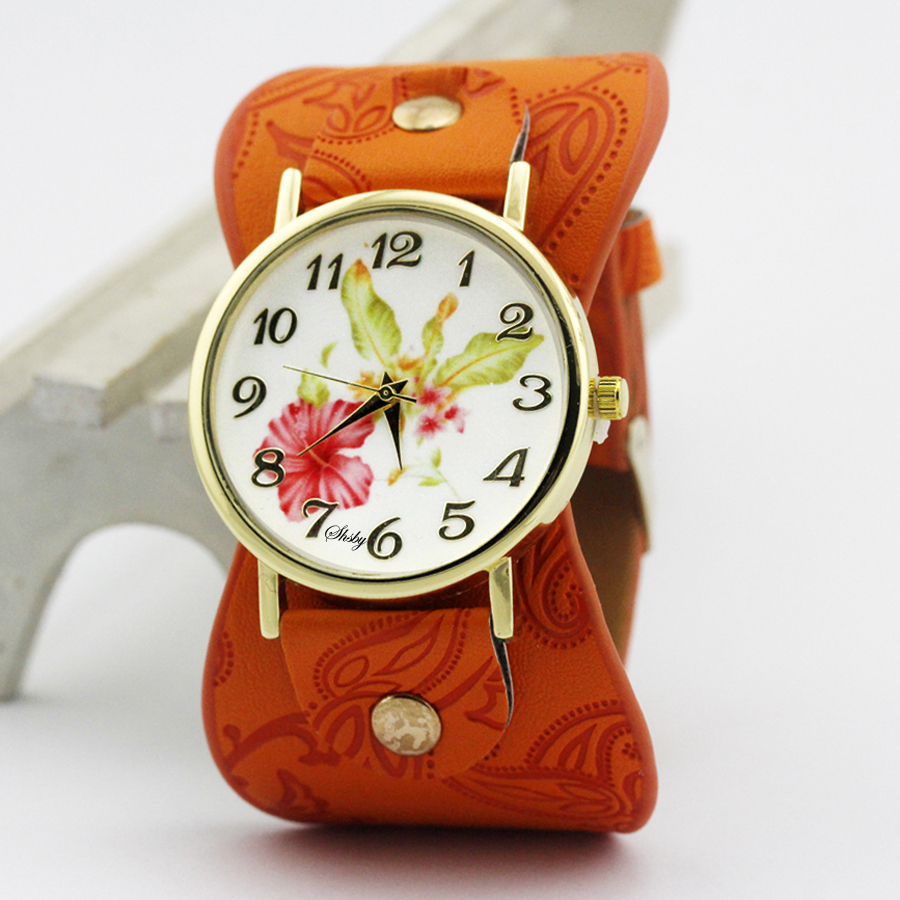 shsby Νέα Άφιξη Τυπωμένο δέρμα Βραχιόλι - Γυναικεία ρολόγια - Φωτογραφία 4