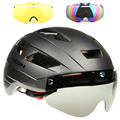 3 объектива N 270g Aero TT дорожный велосипедный шлем  очки для гонок  велоспорта  Спортивная безопасность  TT велосипедный шлем  шоссейный велосип...