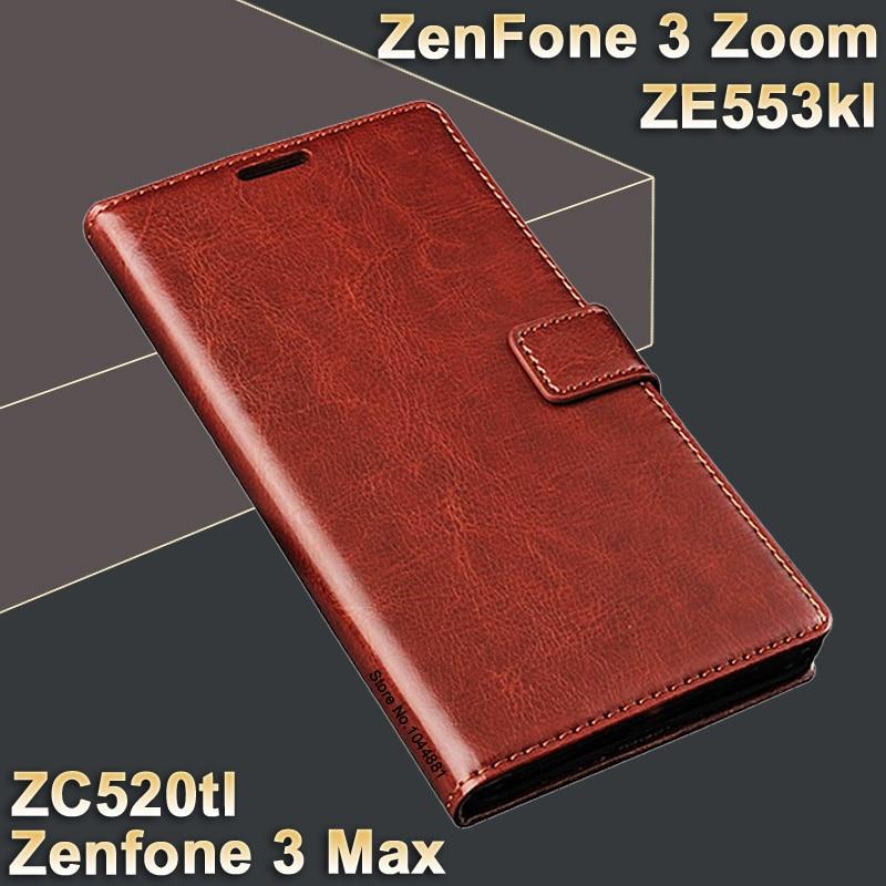 Pro Asus zenfone 3 max zc520tl obal na kůži Kůže Crazy Horse Flip - Příslušenství a náhradní díly pro mobilní telefony