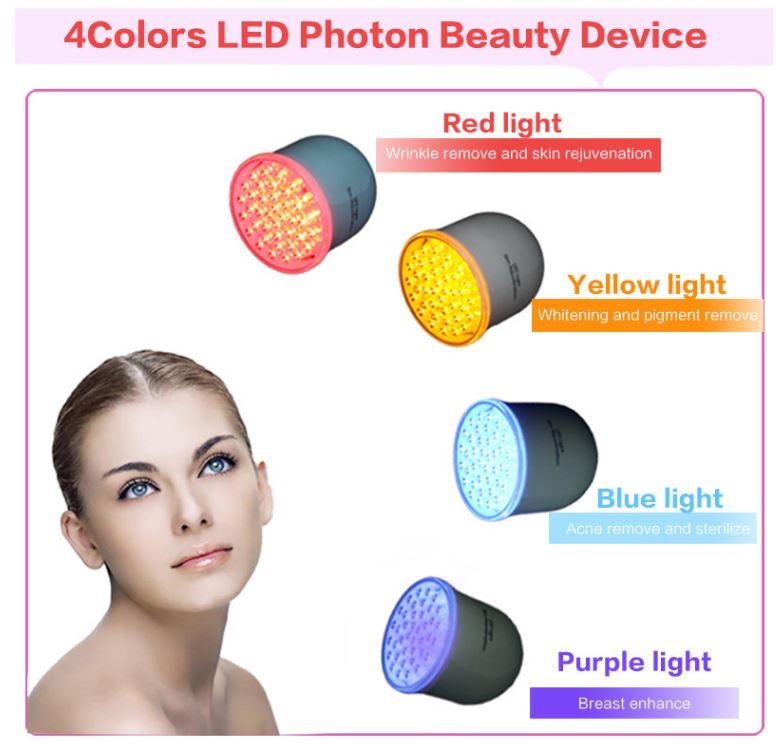 LED красочный нежную кожу инструмент акне удаление инструмента дома нежная кожа салон инструмента