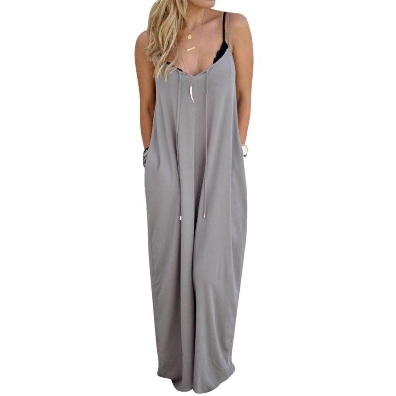 Mujeres atractivas del verano de boho loose casual sling partido de noche largo