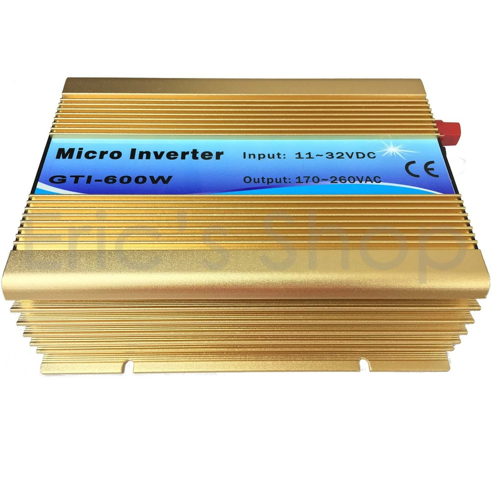 500W Grid Tie Inverter DC11V-32V to AC220V Pure Sine Wave Inverter Use For 18V Panel 36cells 50Hz/60Hz Auto with MPPT Functions