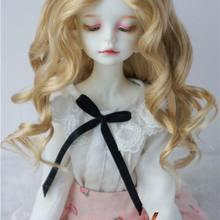 JD340 1/4 MSD куклы парики 18-20 см леди Ролл парик 7-8 дюймов Средняя линия синтетический мохеровый парик для куклы