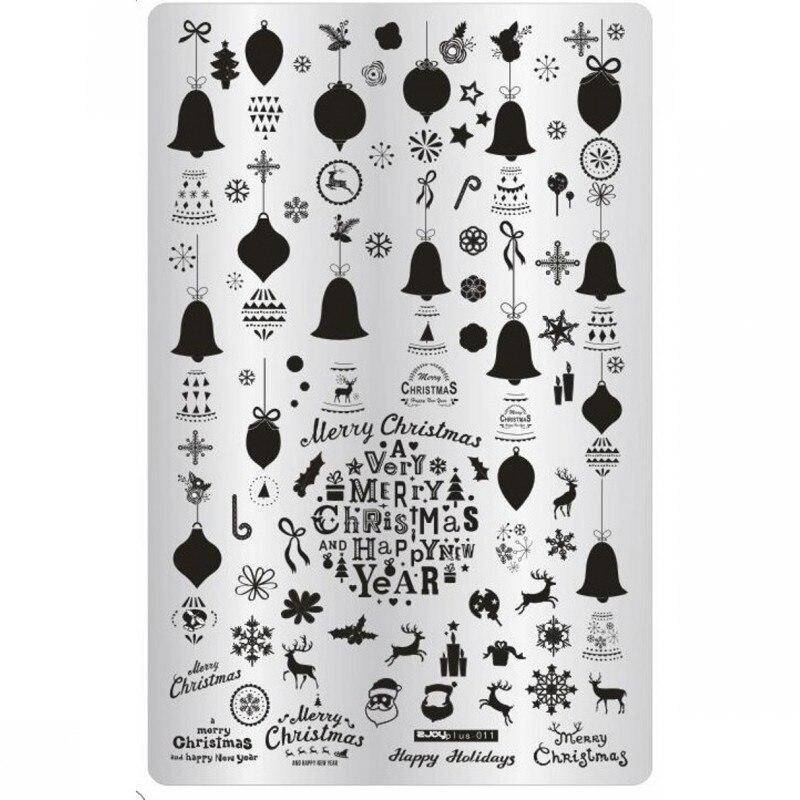 Nailart-vorlagen Nailart 1 Pc Weihnachten Halloween Thema Nail Art Stempel Vorlage Schneeflocke Glocke Litttle Hexe Bat Bild Platte Stanzen Maniküre 14,5*9,5 Cm