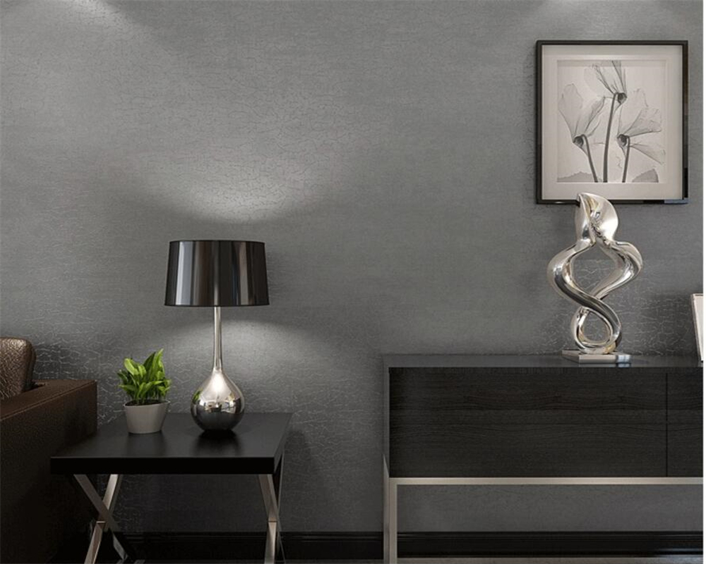 Beibehang Contemporary and contracted plain coloured wallpaper gray beige sitting room bedroom 0.53 x10 m wallpaper for walls 3d gray j mars and venus in the bedroom