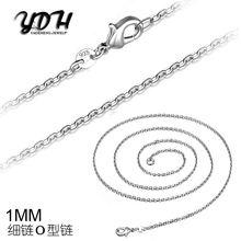 Акция 10 шт/лот! Ожерелье женское посеребренное 1 мм 16 24 дюйма