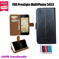 Новинки 100% специальный искусственная кожа защита бумажник чехол для Prestigio MultiPhone 5453 DUO прямая поставка