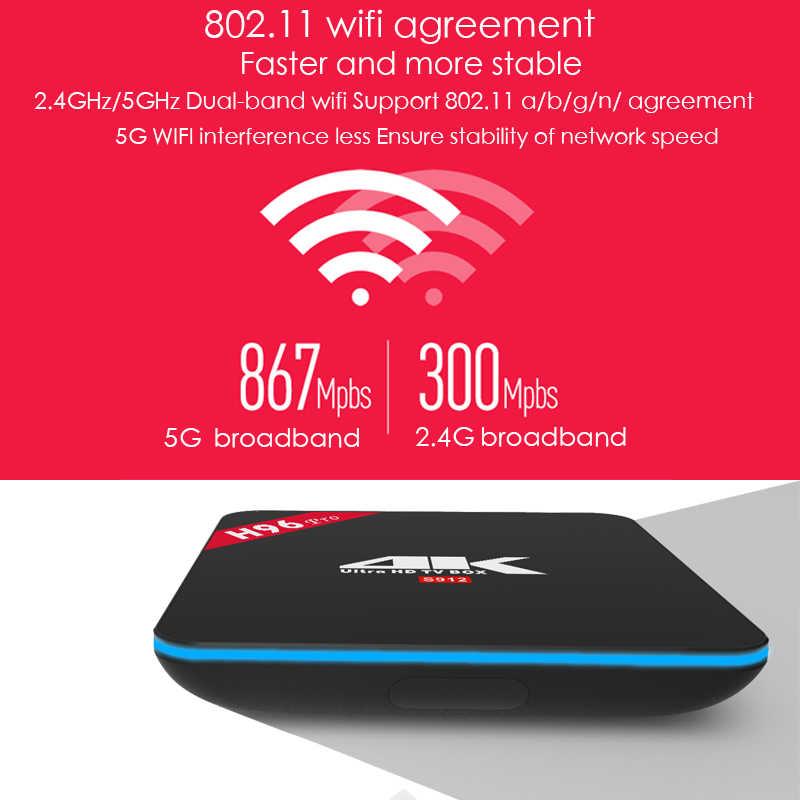 Xinways H96 pro Plus  Android 4g 32g 64g Set Top Box 4 k Ultra HD H 265  Smart TV Box 1000LAN Dual Wifi 2 4/5 0g Media Player