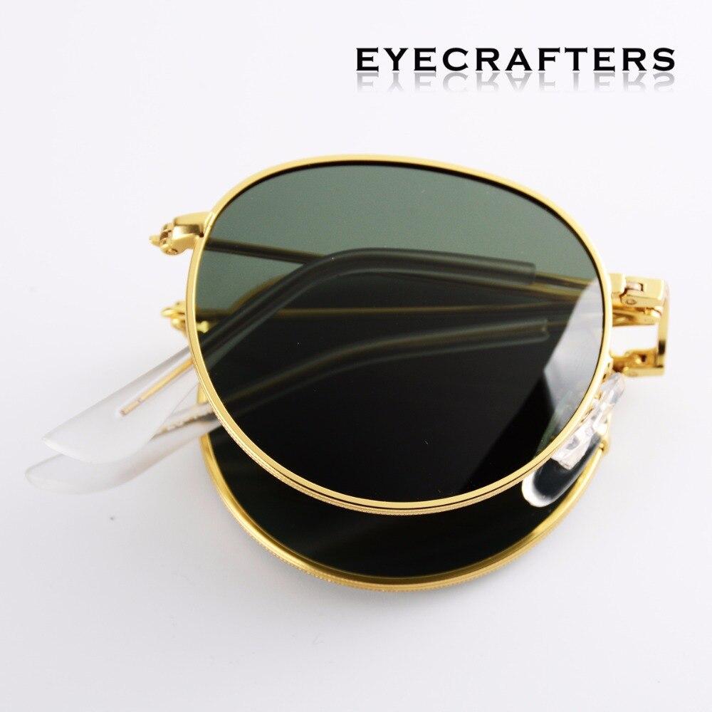447bf719a8d G15 Portable Foldable Folding Sunglasses Polarized Mens Womens Fashion Retro  Vintage SunGlasses Driving Mirrored Eyewear 3532
