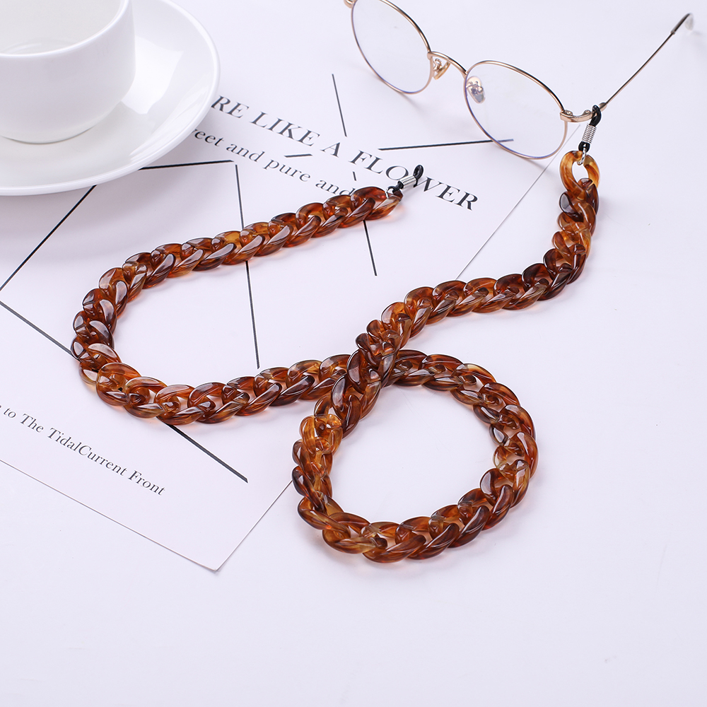 Skyrim Fashion Glasses Chain Wide Acrylic Anti-slip Reading Glass Cord Holder Neck Strap Rope Sunglasses Lanyards Strap New Gift
