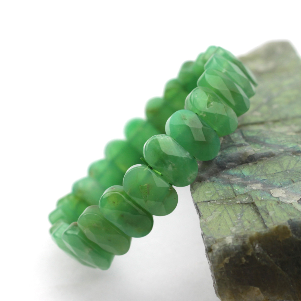 AA grade Natural Chrysoprase stone beads bracelet natural GEM bracelet DIY jewelry bracelet for woman free