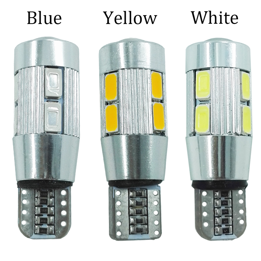 ECAHAYAKU 20PCS Car Styling Auto LED T10 Canbus 194 W5W 10 SMD 5630 Light Bulb No Error Parking Side