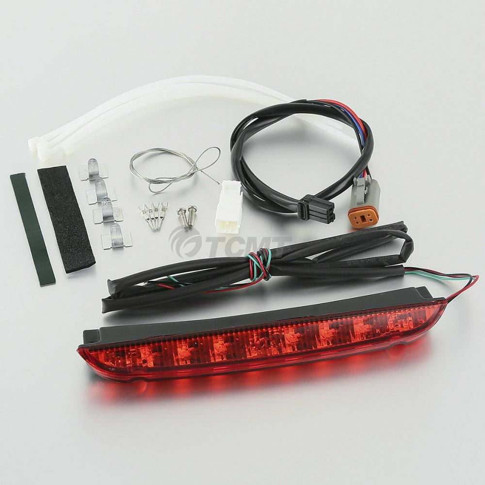 ABS Air Wing Luggage Rack Tail Brake Light LED For Harley 1993 2013 Touring Electra Street Road King Glide in Seats Benches from Automobiles Motorcycles