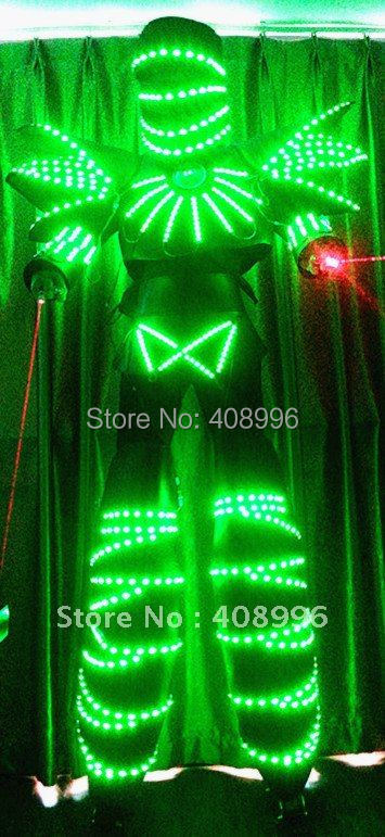 Hot sale lighted Masked Knight LED robot font b suit b font for evening stage performance