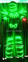 Hot sale lighted Masked Knight LED robot suit for evening stage performance/ LED Robot costumes