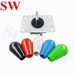 Image 3 - 2Pcs Sanwa joystick Oval ball top Arcade Sanwa joystick with microswitch 4/8 Way Joystick Fighting Stick Parts for Game Arcade