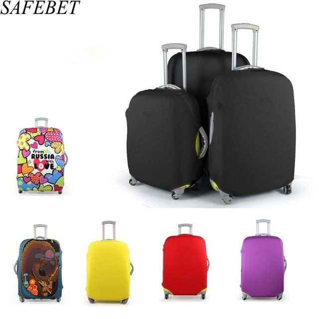 Thermal Transfer Trunk Protective Case Polyester Elasticity Luggage Sets , L , d