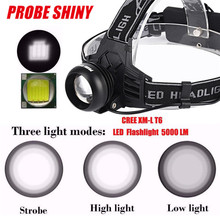 Cycling Bicycle Front Head Torch XM-L  LED Rechargeable 18650 Headlamp Headlight Head USB 5000 Lumens Bike Light