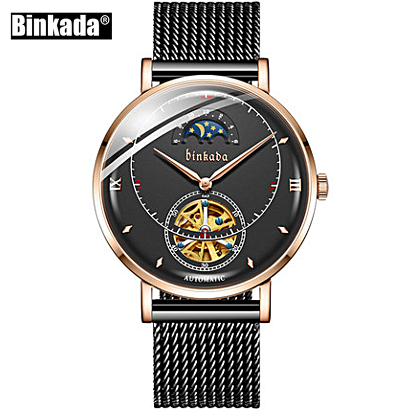 BINKADA New Mechanical Watch Men Brand Luxury Men s Automatic Watches Business Wrist Watch Male Waterproof