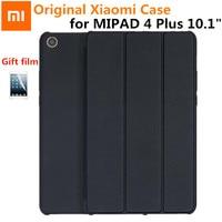 2018 Original Xiaomi Mipad 4 Plus 10.1Case Magnet Slim Smart Xiaomi MiPad4 plus 10 PU+PC Stand Wake Auto Sleep Cover+Film