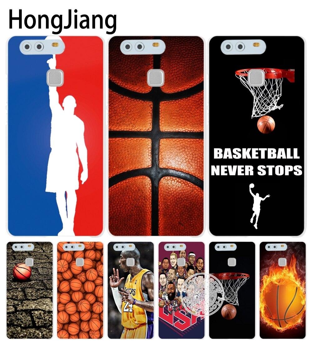 Hongjiang Баскетбол спорт крышка телефона чехол для Huawei Ascend P7 P8 P9 P10 lite плюс G8 G7 Honor 5C 2017