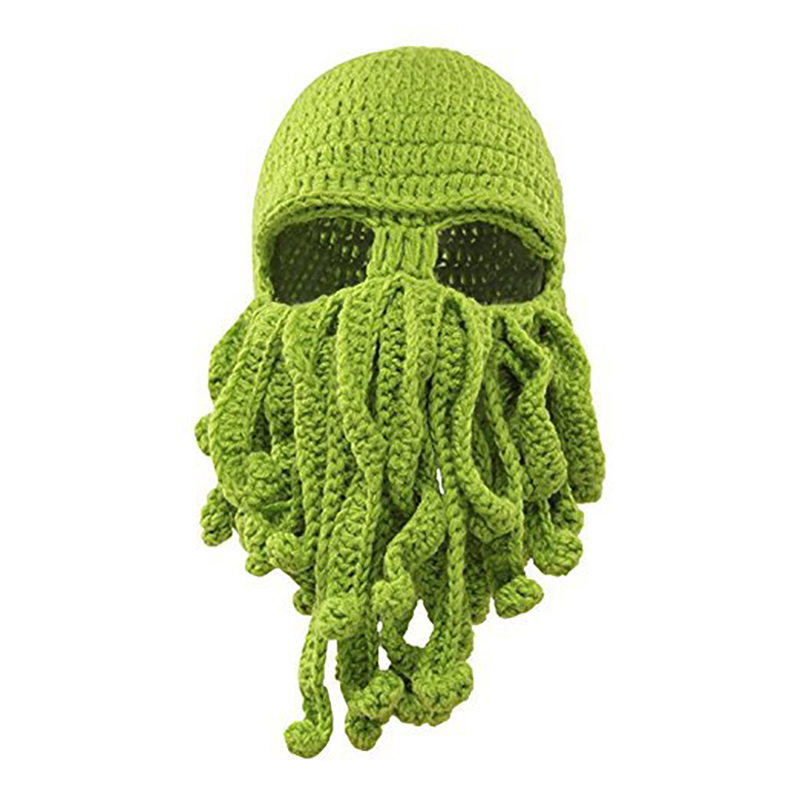 SISLYNLE 2017 Unisex Octopus Knitted Wool Ski Face Masks Event Party Halloween Knitted Hat Squid Cap Beanie Cool Gifts Mask unisex octopus winter warm knitted wool ski face mask knit hat squid cap beanie