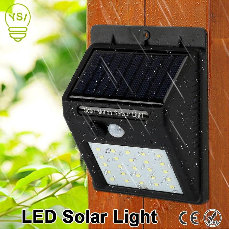 Водонепроницаемый Солнечный лампы движения PIR Сенсор настенный светильник 25 светодиодный IP65 инфракрасный Солнечный Мощность лампа для экономии энергии открытый сад свет