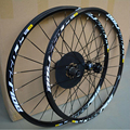 "26'' 29"" 27.5"" 24Holes Disc Brake Mountain Bike Wheels Six Holes Centerlock Bicycle Bike 15mm Front Thru-axle Wheel Wheelset"