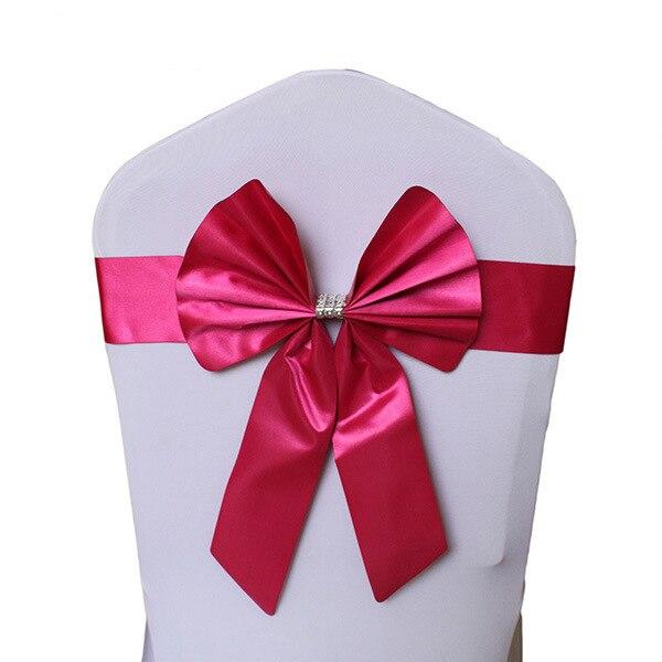 Noeud de Chaise Mariage Sashes узел бант на свадебный стул галстук украшение Stuhl Schleifen Hochzeit ssarfa Fajin Stoel Sjerp - Цвет: 011