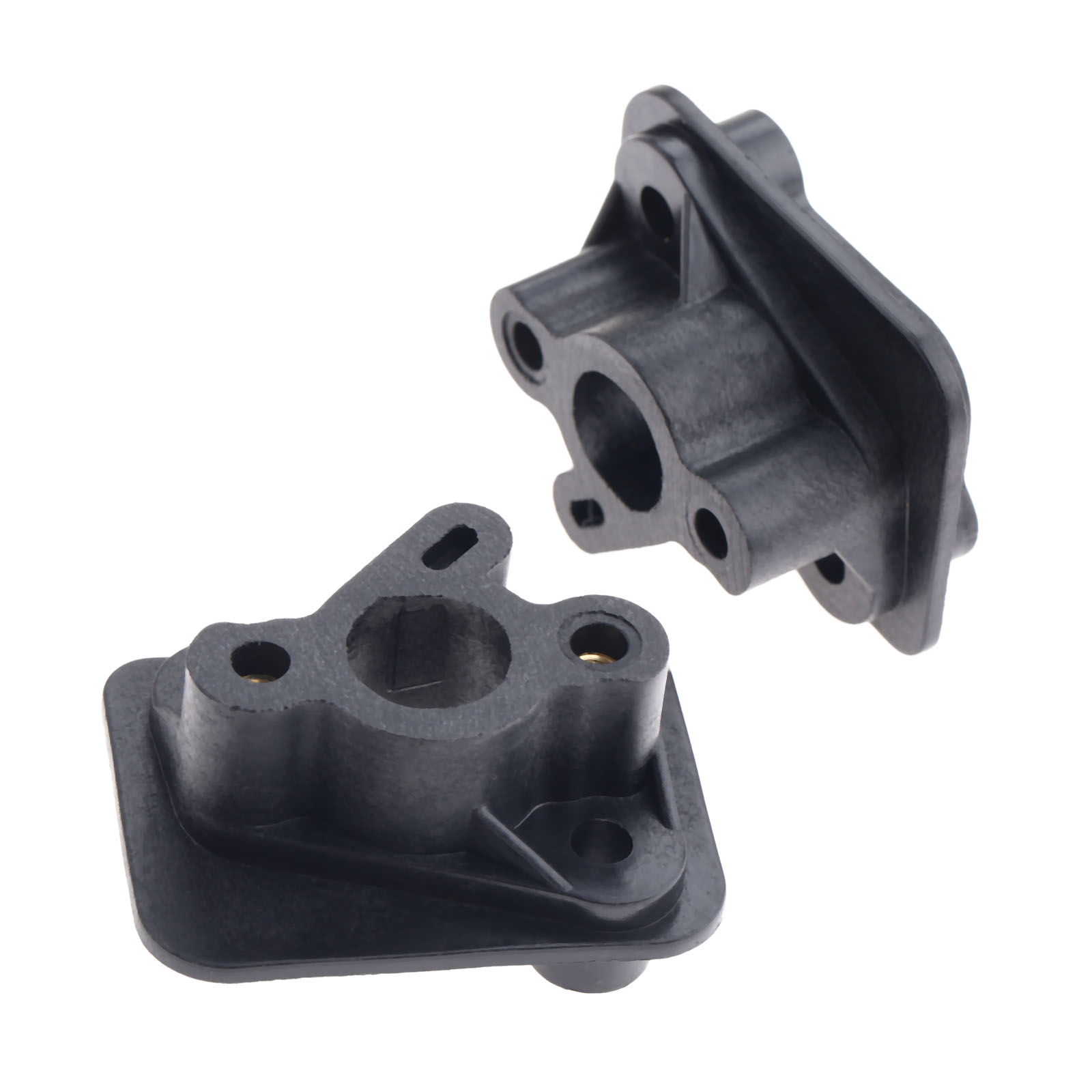 DRELD 2Pcs 40-5 43CC 52CC Brush Cutter Intake Manifold Carburetor Base Connector Admitting Pipe Carb Adaptor Garden Tool Parts high quality replacement carburetor parts tool fit for 250 xv250 1988 2014 carb