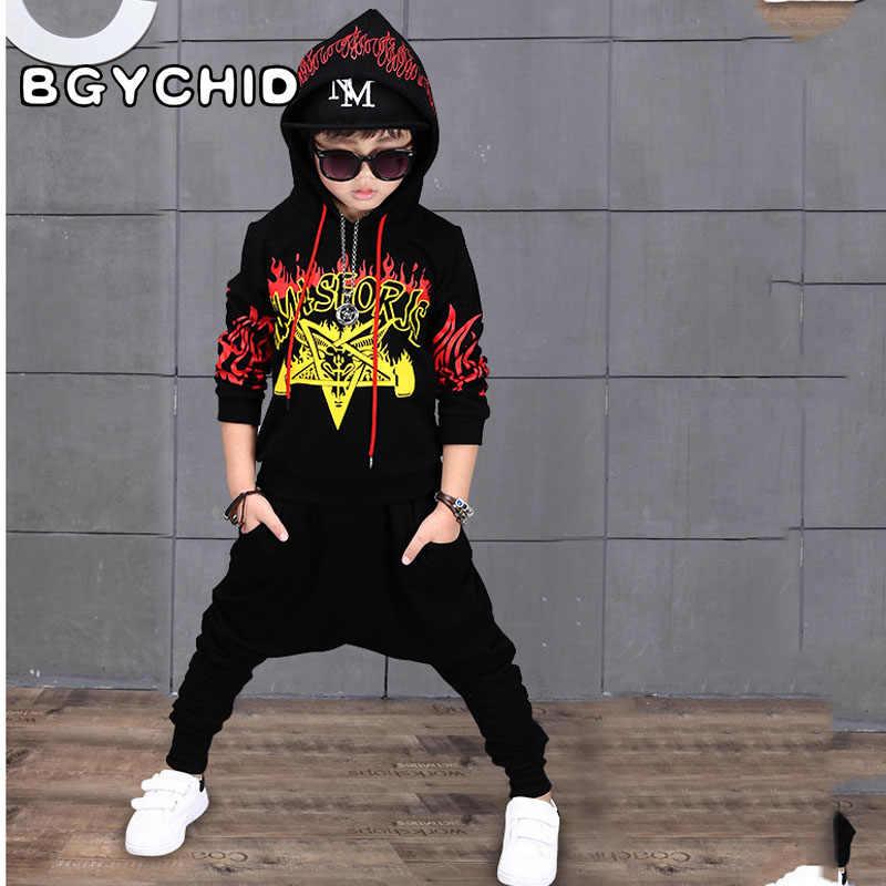 5184a8895443 Детская одежда в стиле хип-хоп с капюшоном; Спортивный костюм для  мальчиков-подростков