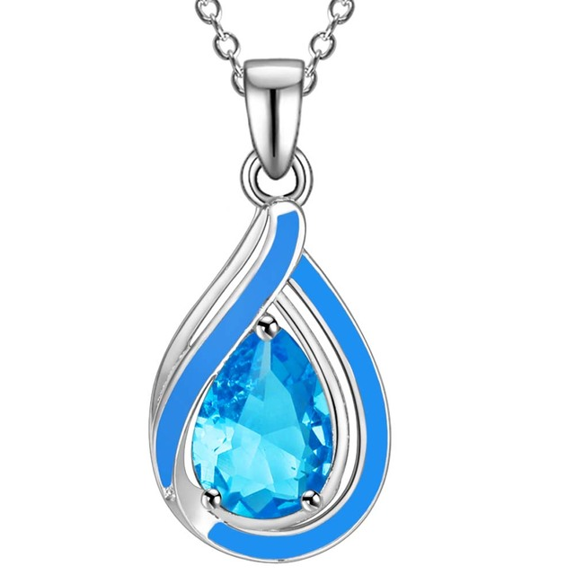 3 colors! sterling silver jewelry Hot Sale!Free Shipping 925 Silver Necklaces & Pendants,Water Drop Pendant AN1679