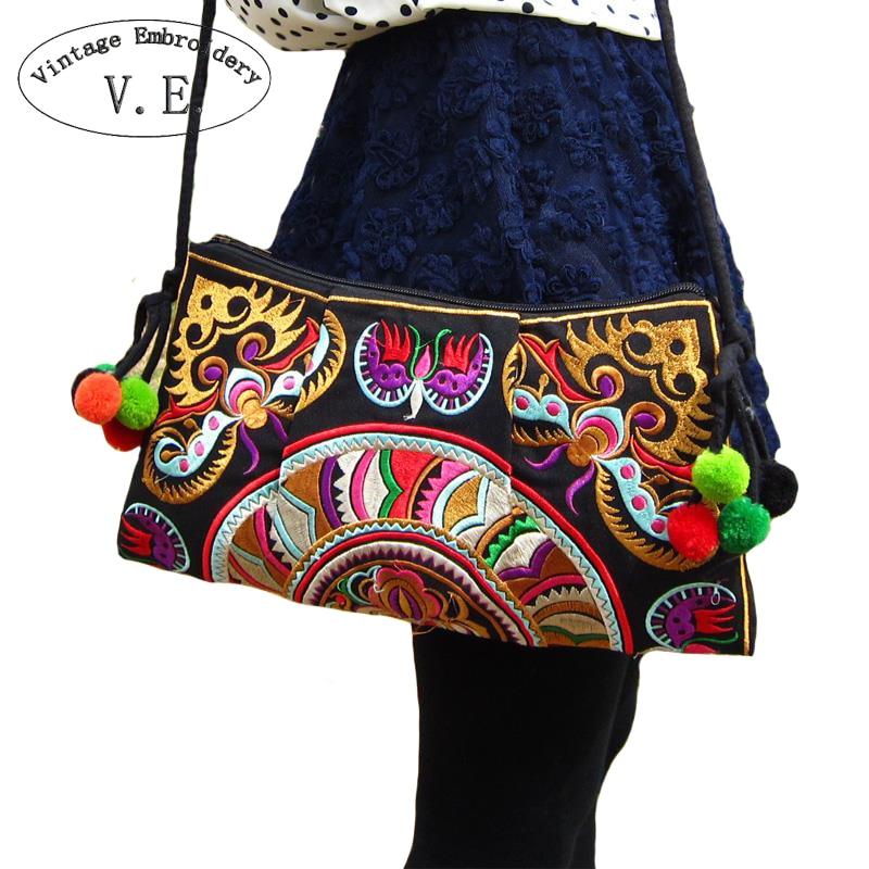 Винтажные женские туфли с вышивкой сумки через плечо этно Бохо сумка женская день сцепления маленькую сумочку