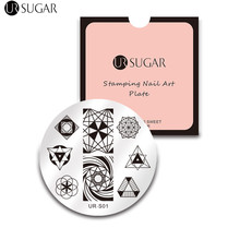 UR SUGAR Geometry Contracted Nail Stamping Template Triangle Geometric Pattern Stamp Manicure Nail Art DIY Image