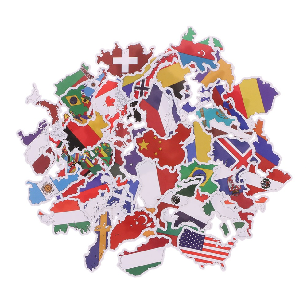 50X National Flags Stickers Toys Countries Map Sticker DIY Scrapbooking Suitcase50X National Flags Stickers Toys Countries Map Sticker DIY Scrapbooking Suitcase