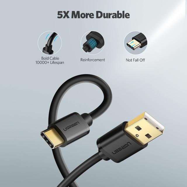Кабель быстрой зарядки и передачи данных USB – Type-C, Ugreen