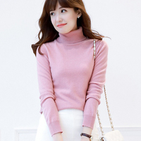 100% Goat Cashmere Knitting Sweaters Women Turtleneck 17Colors Female Jumpers Standard Clothes Ladies Jumpers Woman Sweater Tops