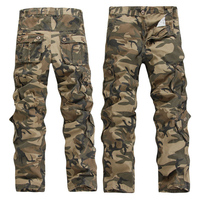 Men Casual Camouflage Overalls Male Multi Pocket Trousers Loose Plus Size Military Pants