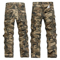 Men Casual Camouflage Overalls Male Multi-pocket Trousers Loose Plus Size Military Pants